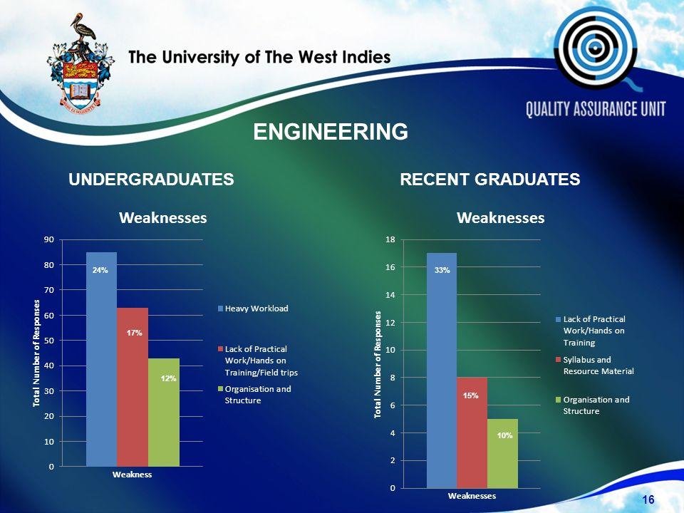 UNDERGRADUATESRECENT GRADUATES 16 24% 17% 12% 10% 15% 33% ENGINEERING