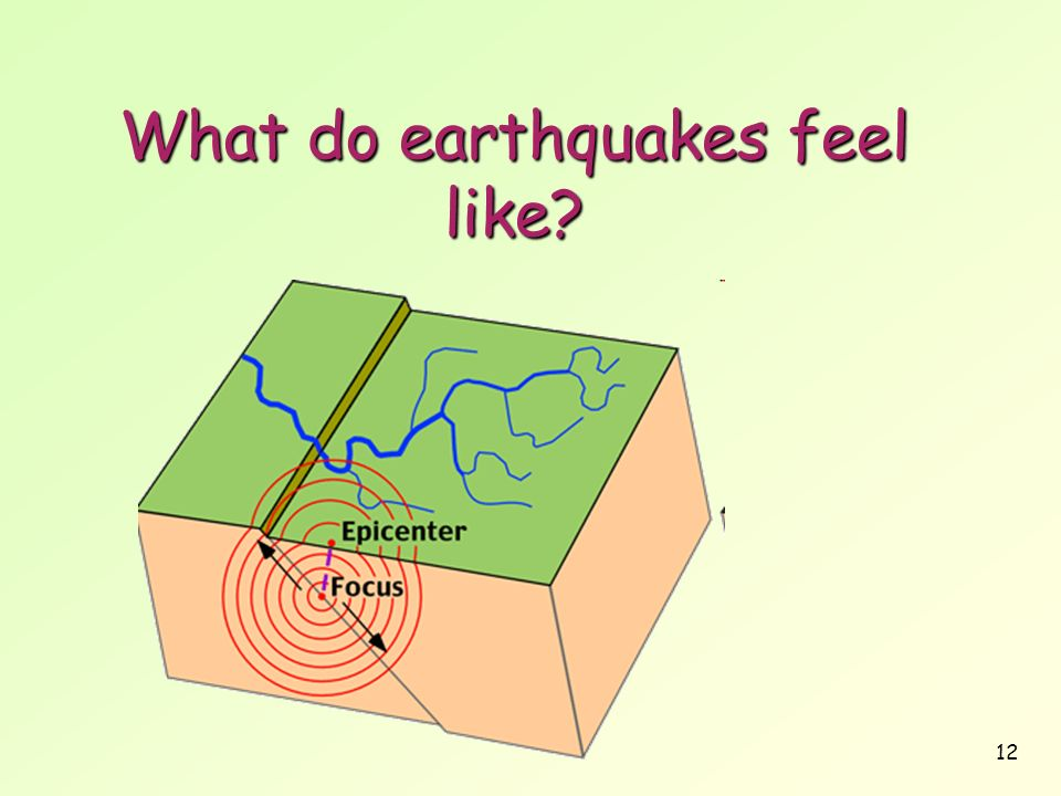 12 What do earthquakes feel like
