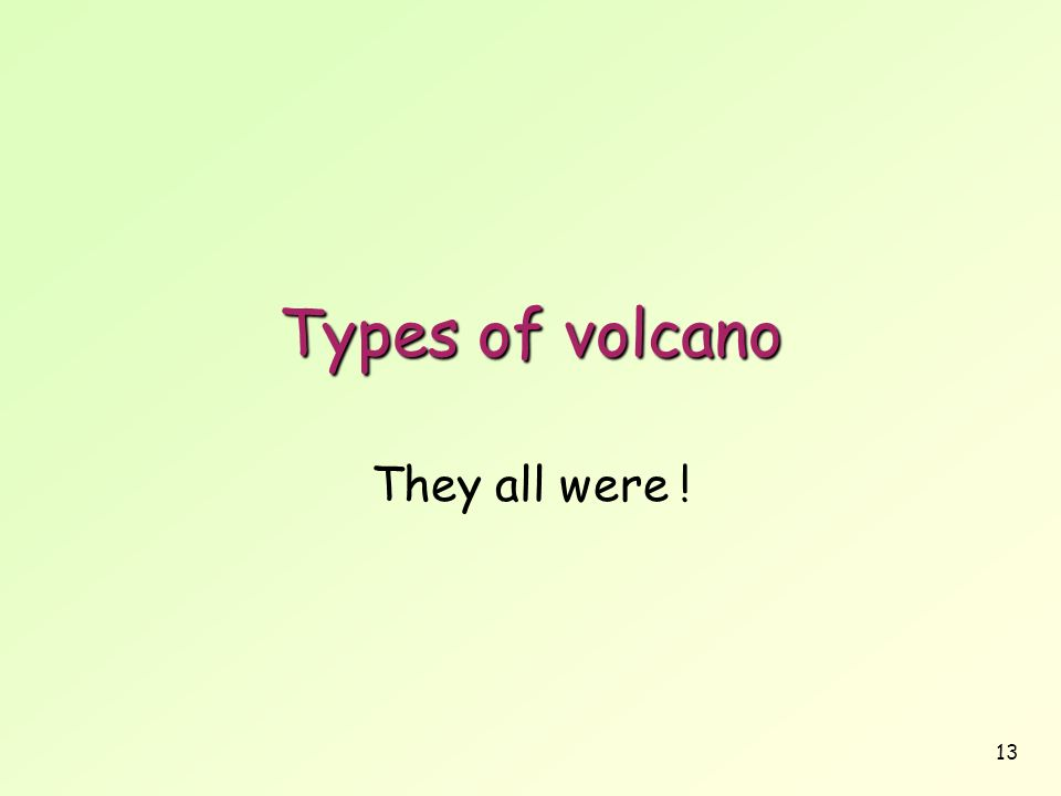 13 Types of volcano They all were !