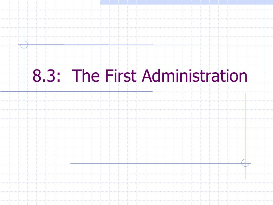 8.3: The First Administration