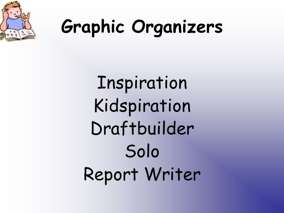 Graphic Organizers Inspiration Kidspiration Draftbuilder Solo Report Writer