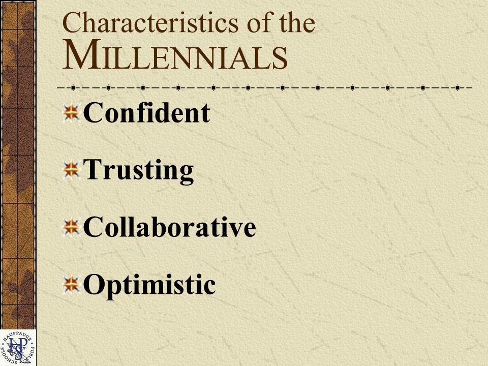 Confident Trusting Collaborative Optimistic Characteristics of the M ILLENNIALS