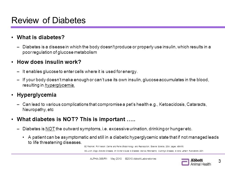 ALPHA-385/R1 May 2010 ©2010 Abbott Laboratories 3 Review of Diabetes What is diabetes.