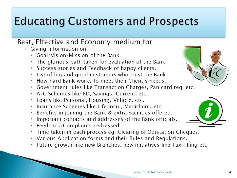 Best, Effective and Economy medium for Giving information on Goal/Vision/Mission of the Bank. The glorious path taken for evaluation of the Bank. Succ