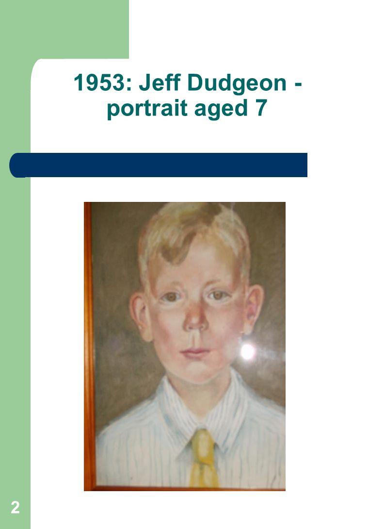 2 1953: Jeff Dudgeon - portrait aged 7