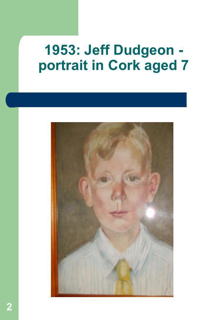 2 1953: Jeff Dudgeon - portrait in Cork aged 7