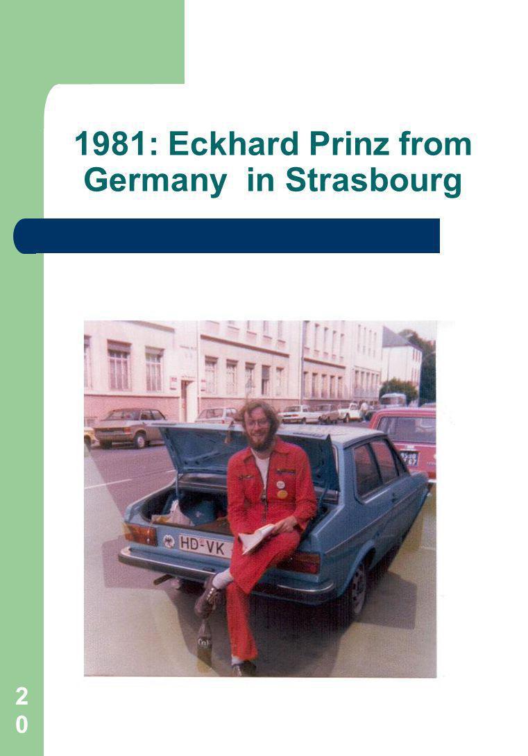 20 1981: Eckhard Prinz from Germany in Strasbourg