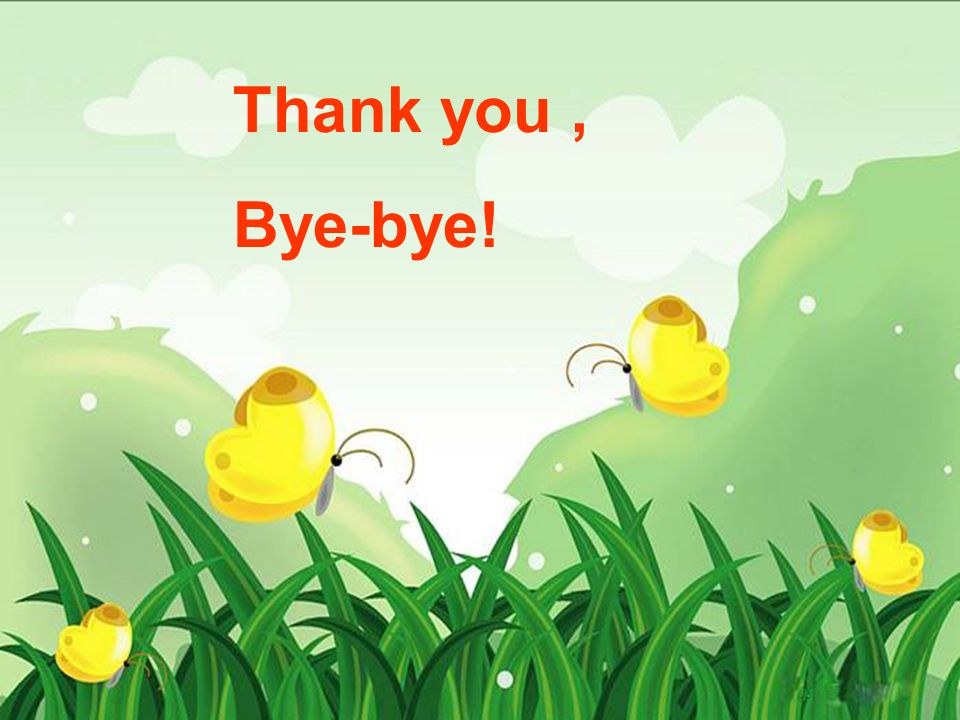 Thank you, Bye-bye!