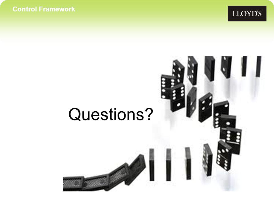 Control Framework Questions?