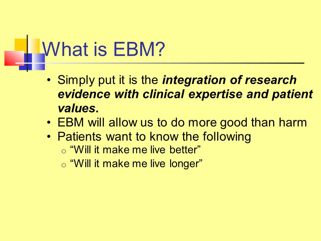 What is EBM.