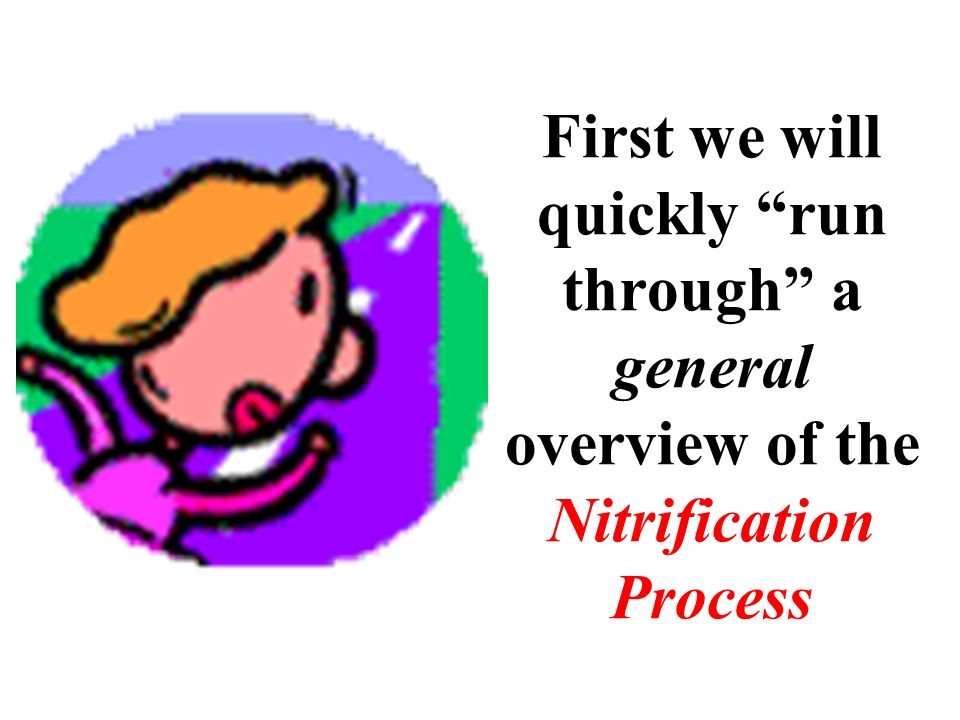 First we will quickly run through a general overview of the Nitrification Process
