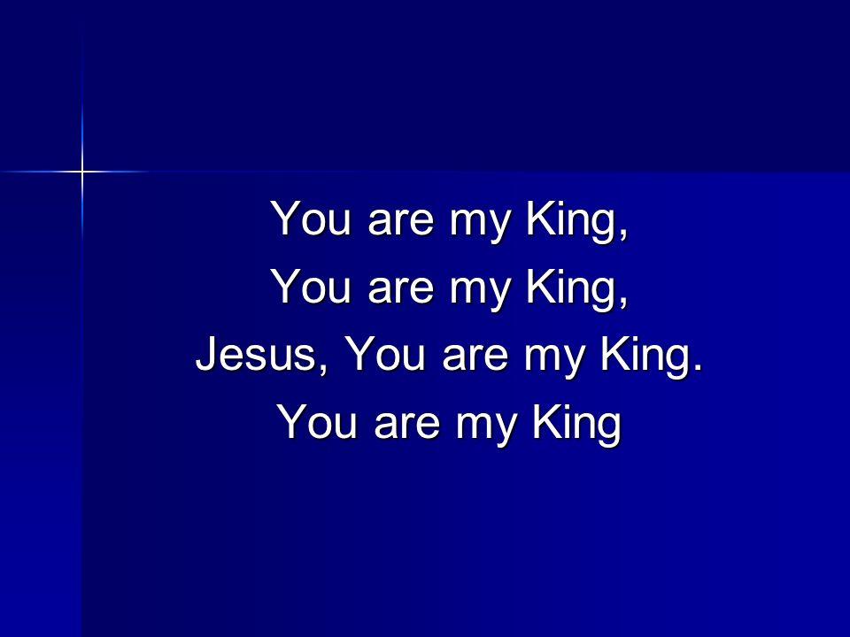 You are my King, Jesus, You are my King. You are my King