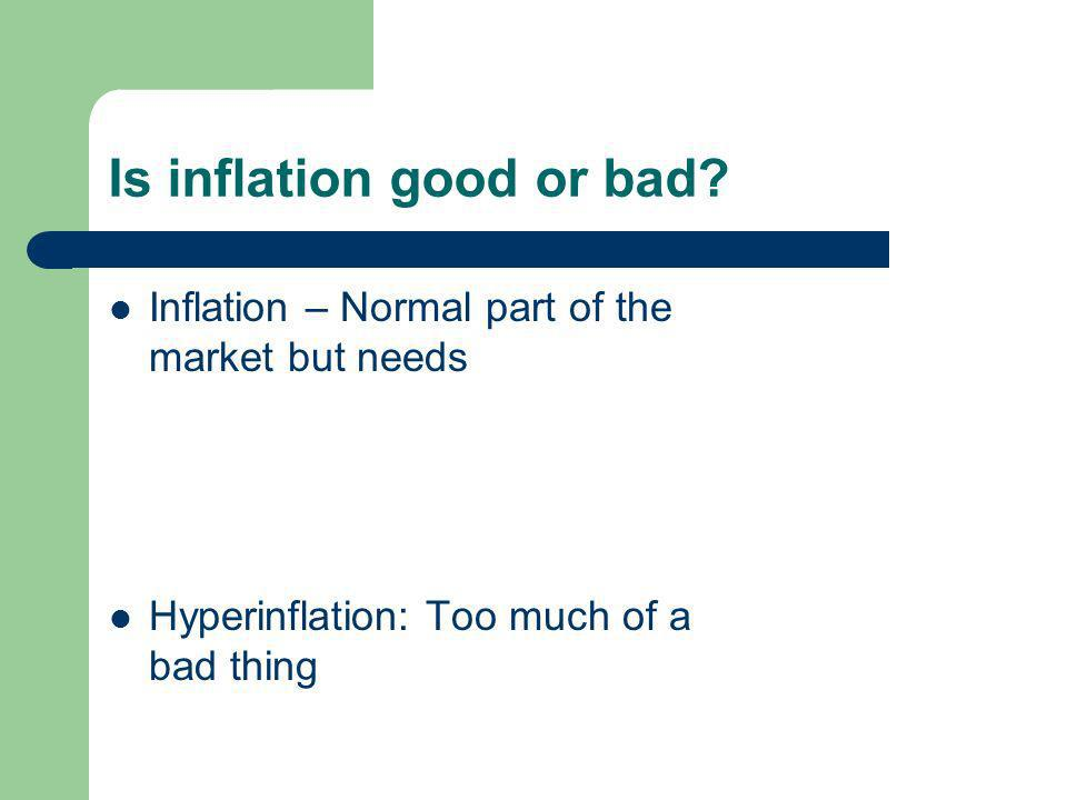 Is inflation good or bad.