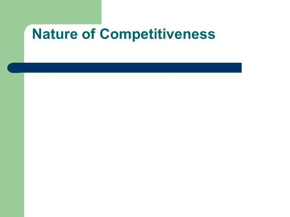 Nature of Competitiveness