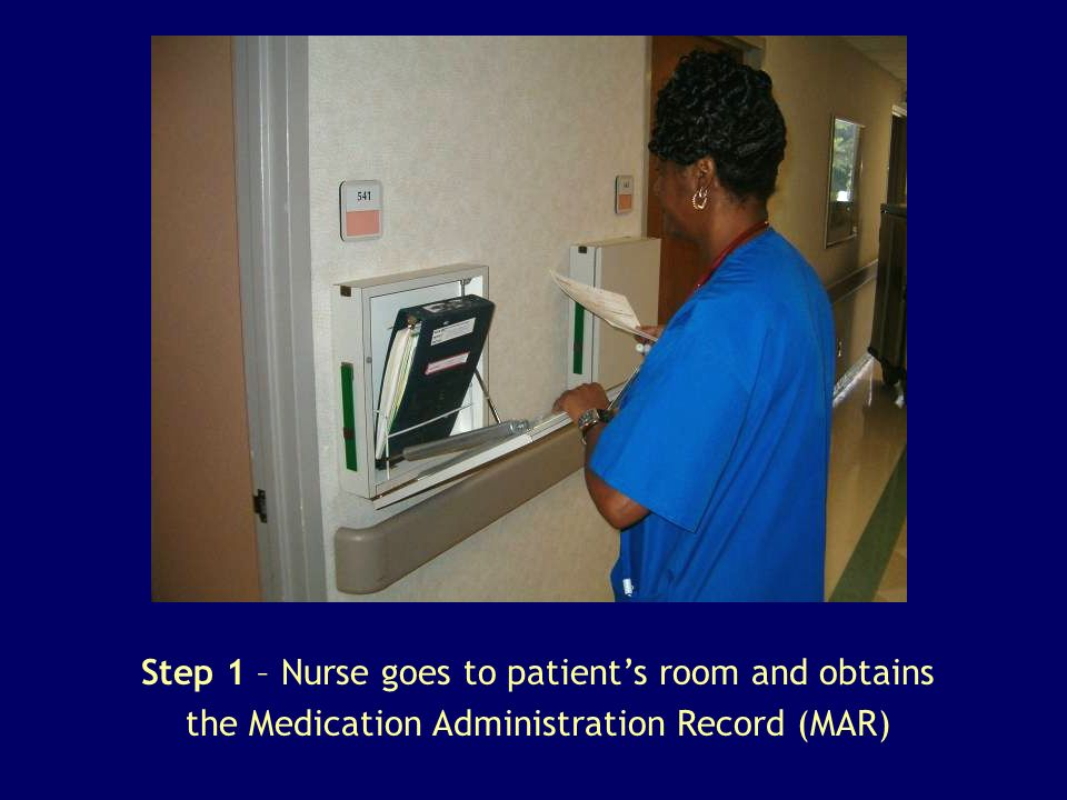 Step 2 – Nurse goes to medication storage room.