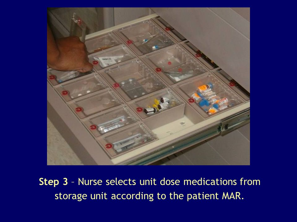 Step 4 – Nurse completes medication selection.