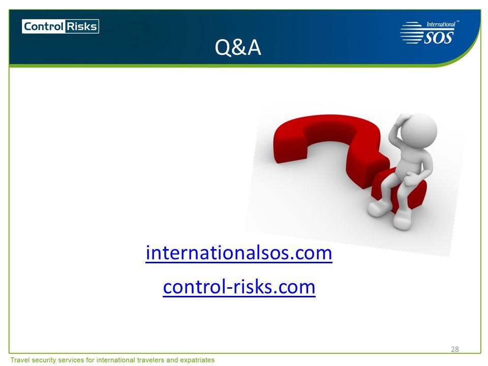 28 internationalsos.com control-risks.com Q&A