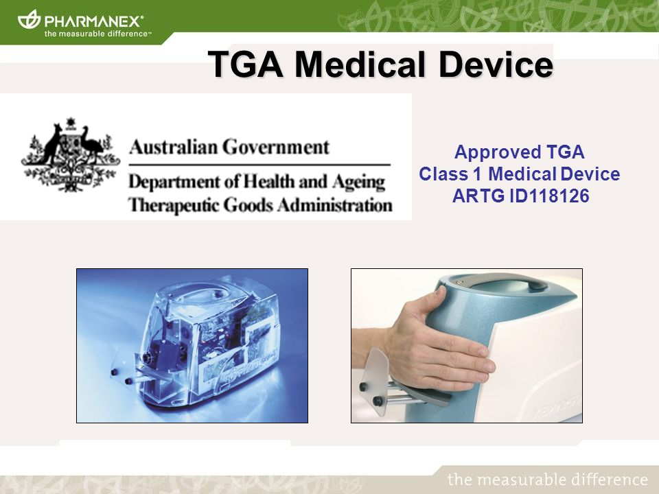 TGA Medical Device TGA Medical Device Approved TGA Class 1 Medical Device ARTG ID118126