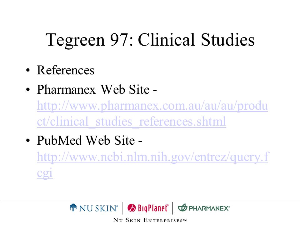 Tegreen 97: Recommended Adult Usage Those concerned about: –Immune health –Dental health –Skin health –Aging One capsule daily with food.