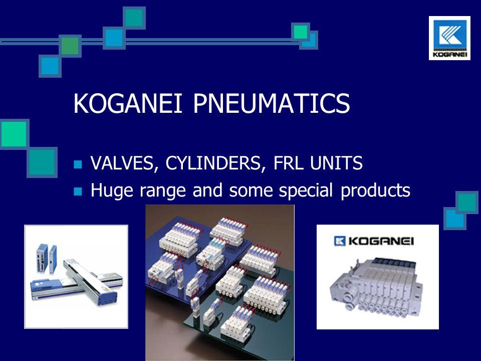 Koganei Complete Pneumatic range