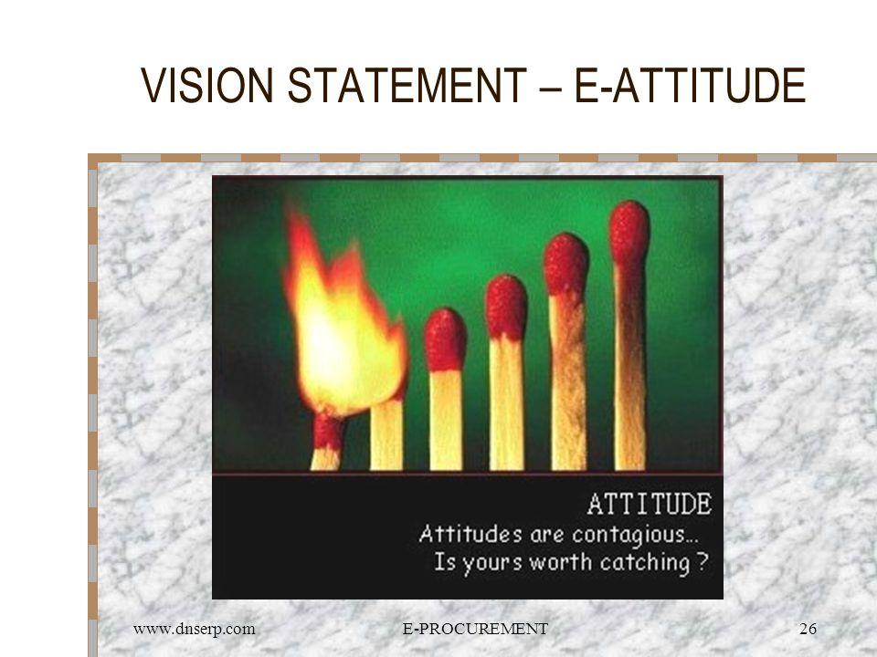 www.dnserp.comE-PROCUREMENT26 VISION STATEMENT – E-ATTITUDE