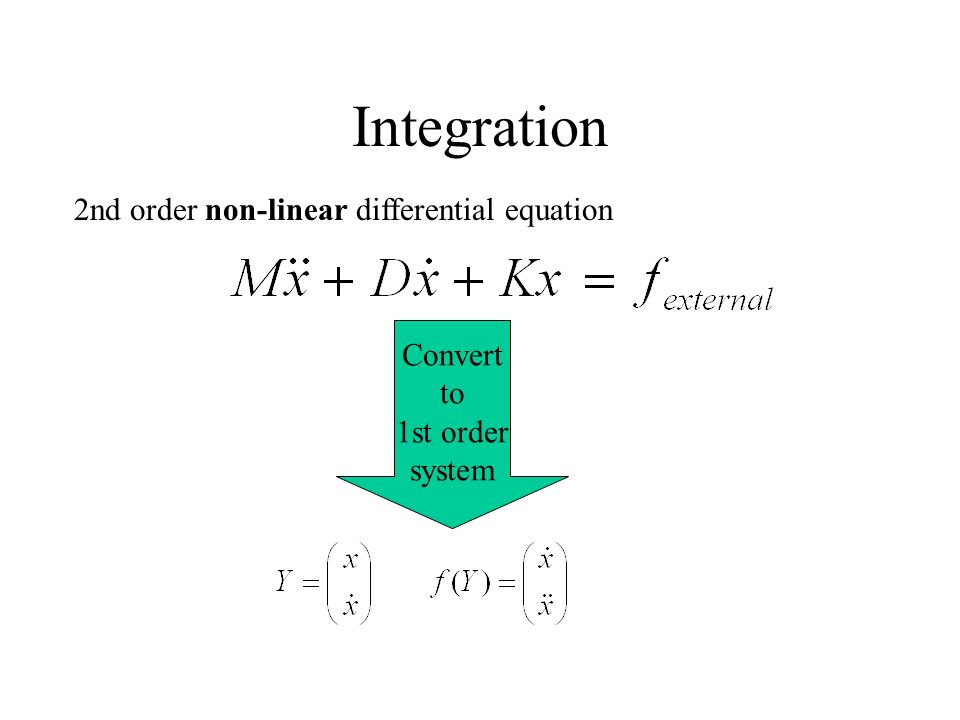 Integration 2nd order non-linear differential equation Convert to 1st order system