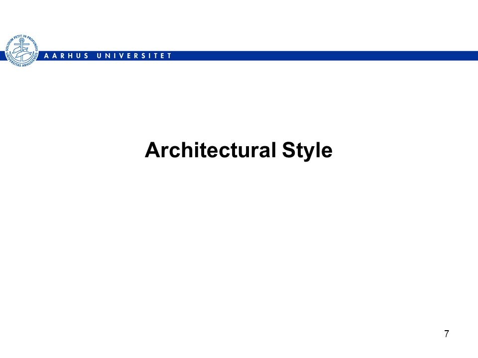7 Architectural Style