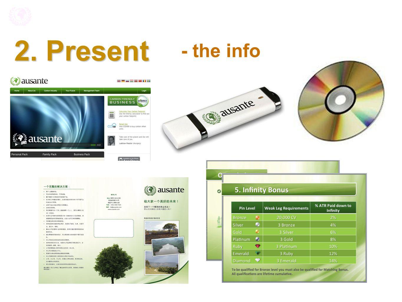 2. Present - the info