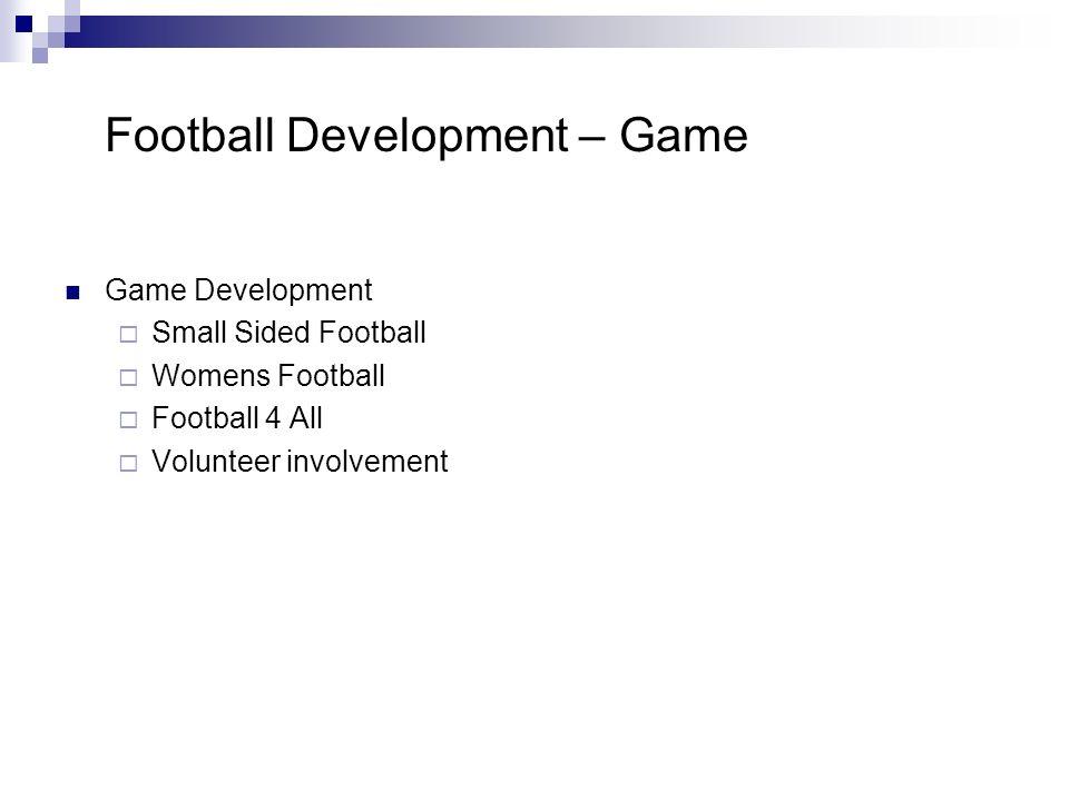 Football Development – Game Game Development Small Sided Football Womens Football Football 4 All Volunteer involvement