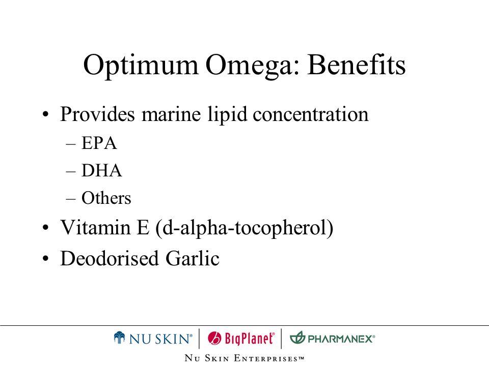 Optimum Omega: Advantage Supplies EPA & DHA fatty acids.