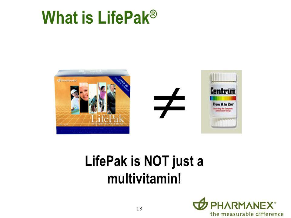 13 LifePak is NOT just a multivitamin! What is LifePak ®