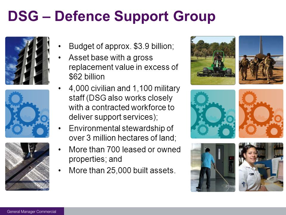 DSG – Defence Support Group Budget of approx.