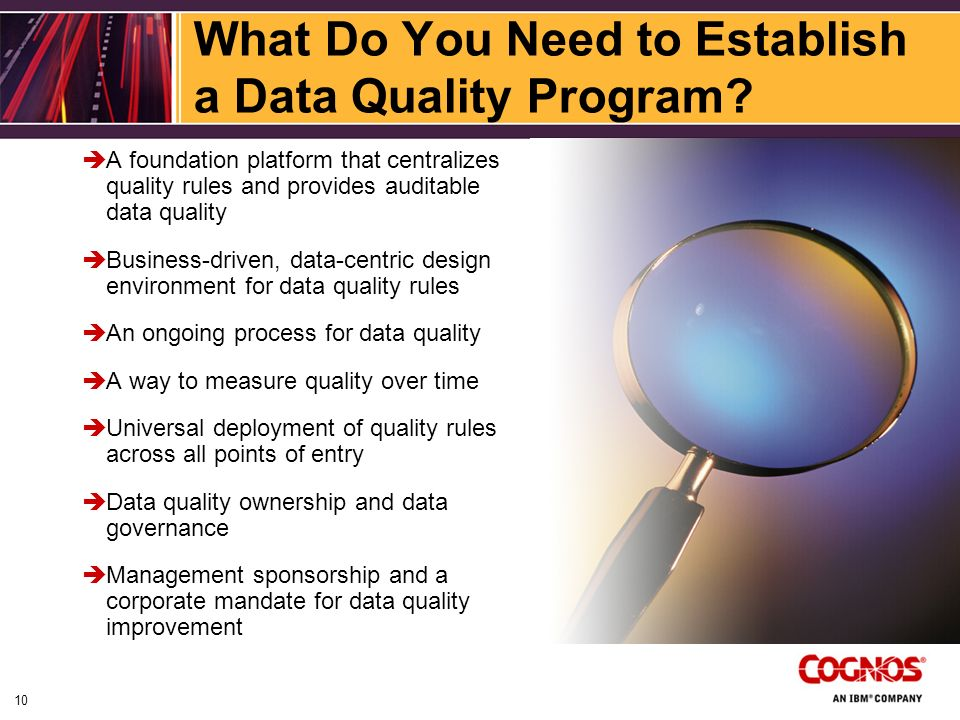 What Do You Need to Establish a Data Quality Program.