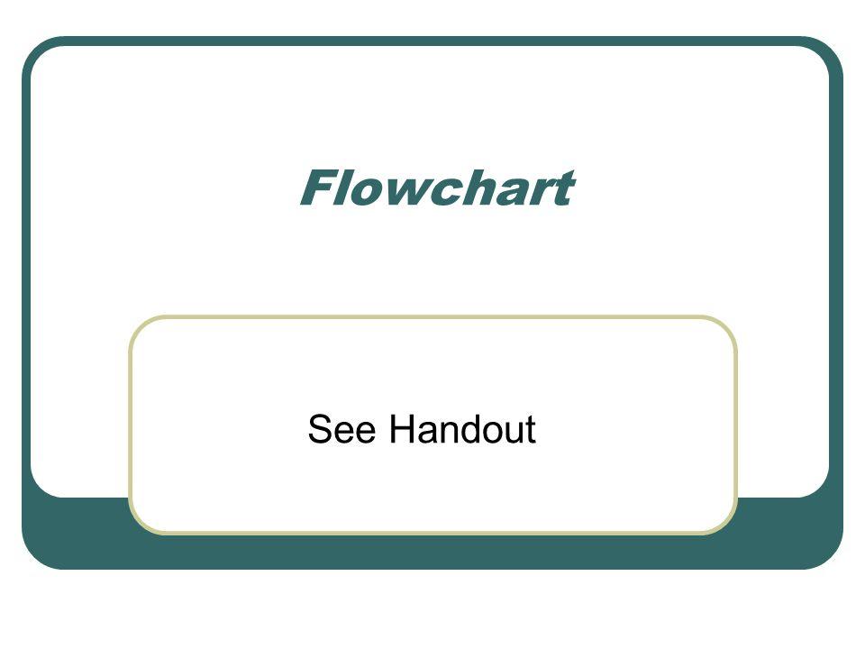 Flowchart See Handout