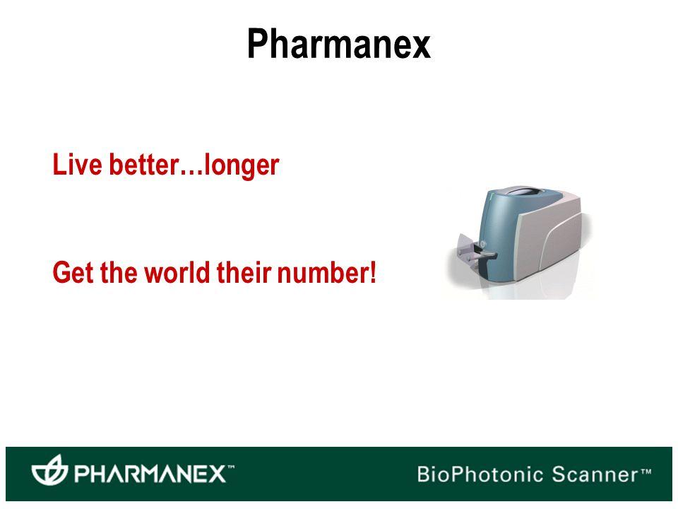 Pharmanex Live better…longer Get the world their number!