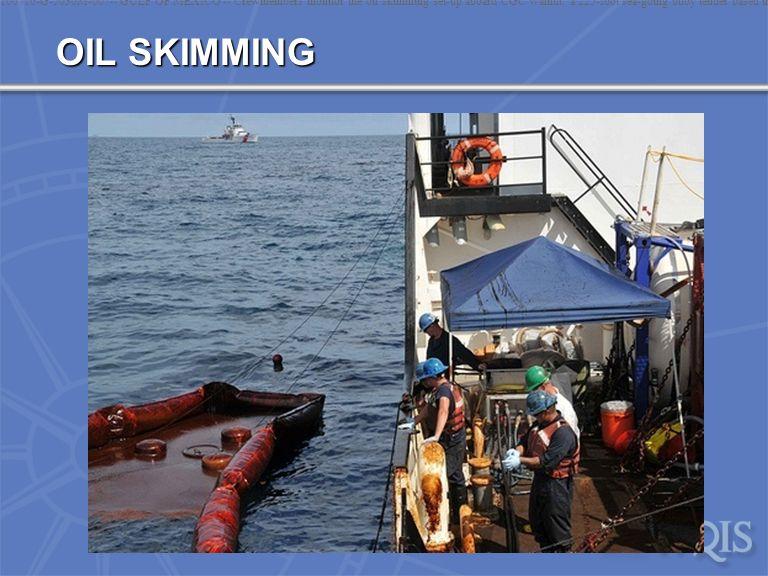 OIL SKIMMING