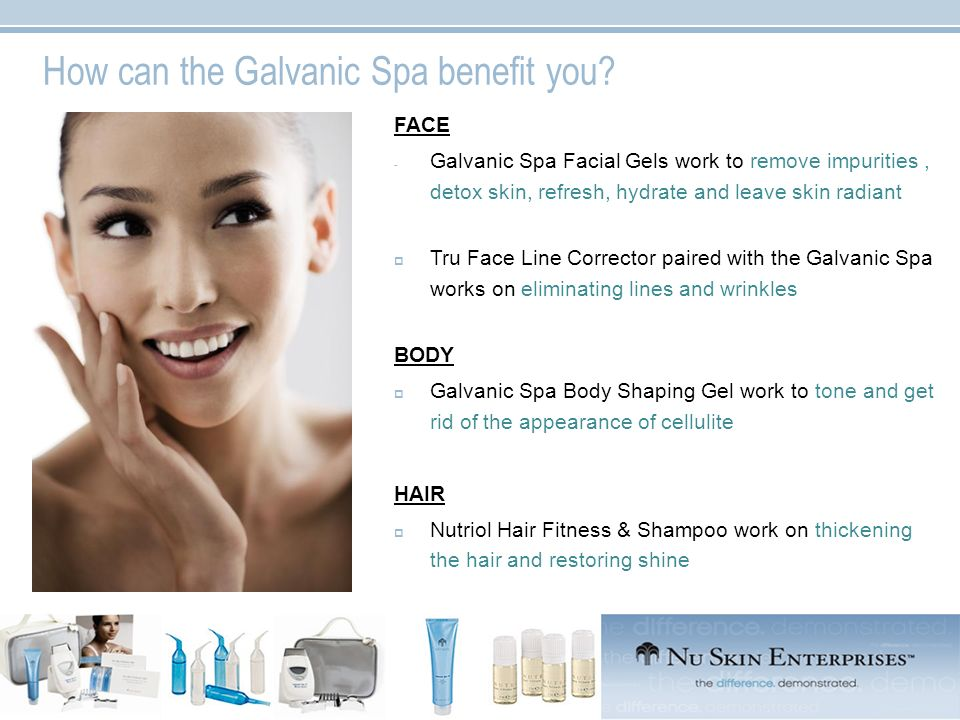 How can the Galvanic Spa benefit you? FACE - Galvanic Spa Facial Gels work to remove impurities, detox skin, refresh, hydrate and leave skin radiant T