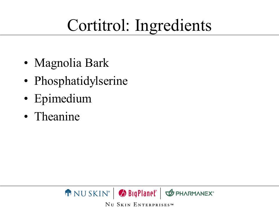 Magnolia Bark Phosphatidylserine Epimedium Theanine Cortitrol: Ingredients