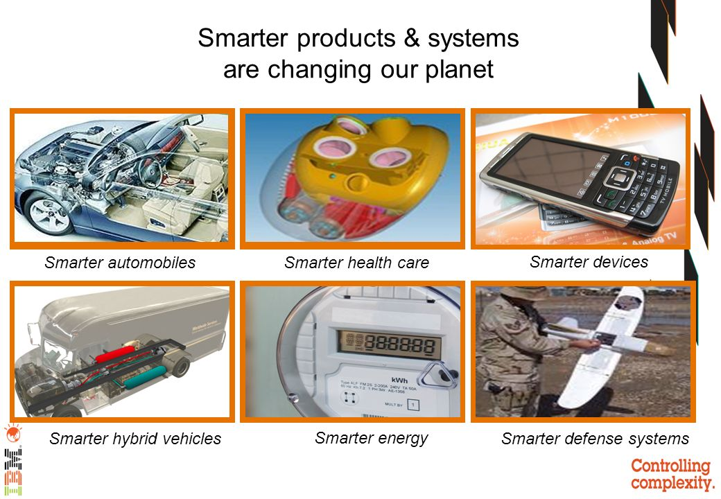 Smarter health care Smarter products & systems are changing our planet Smarter devices Smarter hybrid vehicles Smarter automobiles Smarter energy Smar