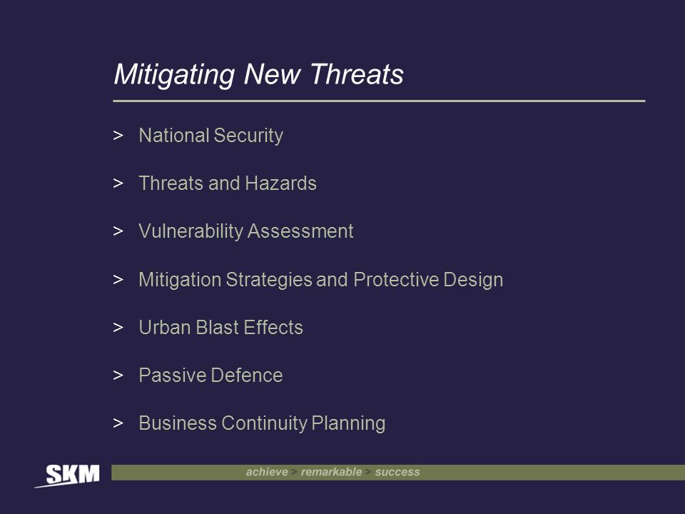Mitigating New Threats >National Security >Threats and Hazards >Vulnerability Assessment >Mitigation Strategies and Protective Design >Urban Blast Effects >Passive Defence >Business Continuity Planning