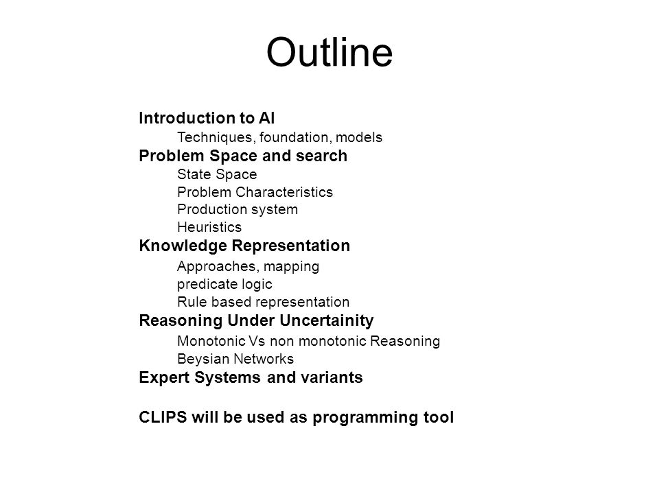 Typical AI Problems Experts tasks (require specialized skills and training) include : Medical diagnosis Equipment repair Equipment repair Computer configuration Computer configuration Financial planning Financial planning AI is concerned with automating both mundane and expert tasks.