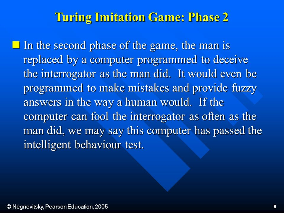 © Negnevitsky, Pearson Education, 2005 19 By 1970, the euphoria about AI was gone, and most government funding for AI projects was cancelled.