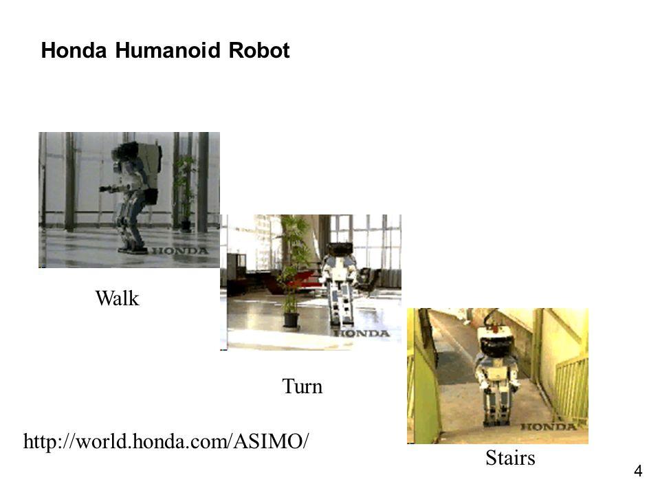 4 Honda Humanoid Robot Walk Turn Stairs http://world.honda.com/ASIMO/