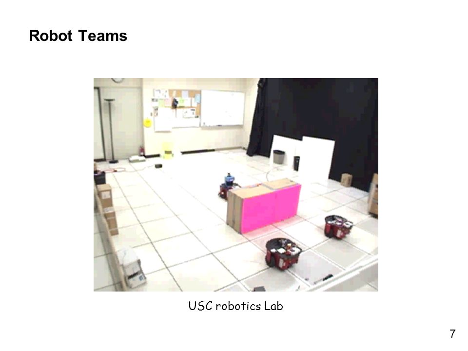 7 Robot Teams USC robotics Lab