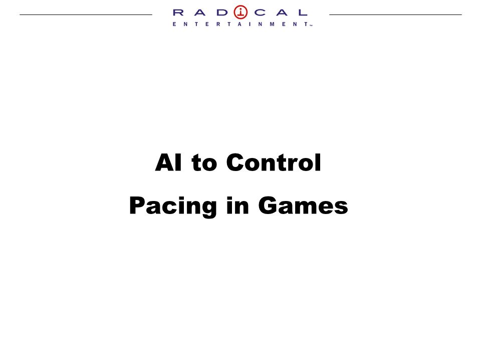 AI to Control Pacing in Games