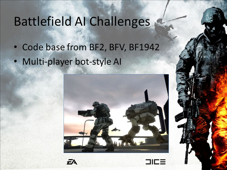 Battlefield AI Challenges Code base from BF2, BFV, BF1942 Multi-player bot-style AI