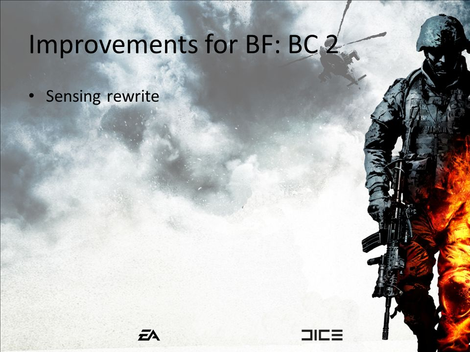 Improvements for BF: BC 2 Sensing rewrite