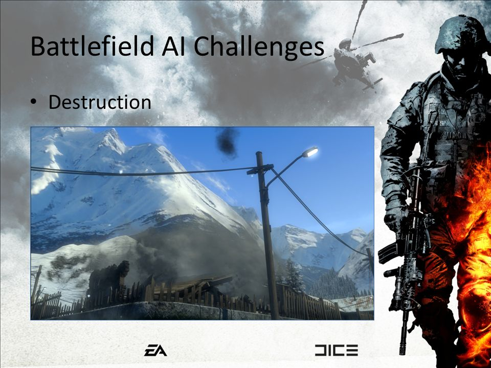 Battlefield AI Challenges Destruction