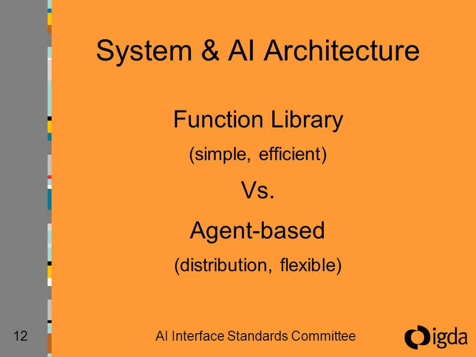 12AI Interface Standards Committee System & AI Architecture Function Library (simple, efficient) Vs.