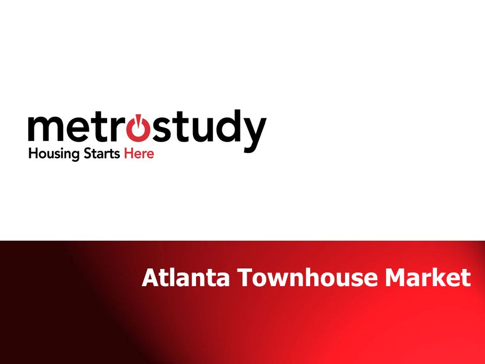 Atlanta Townhouse Market
